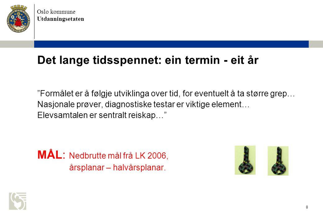 Oslo kommune Utdanningsetaten 29 Gode mål settes i elevenes utviklingssone