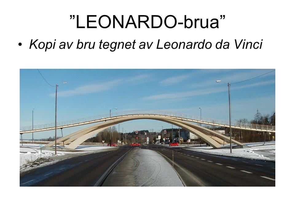 """""""LEONARDO-brua"""" Kopi av bru tegnet av Leonardo da Vinci"""