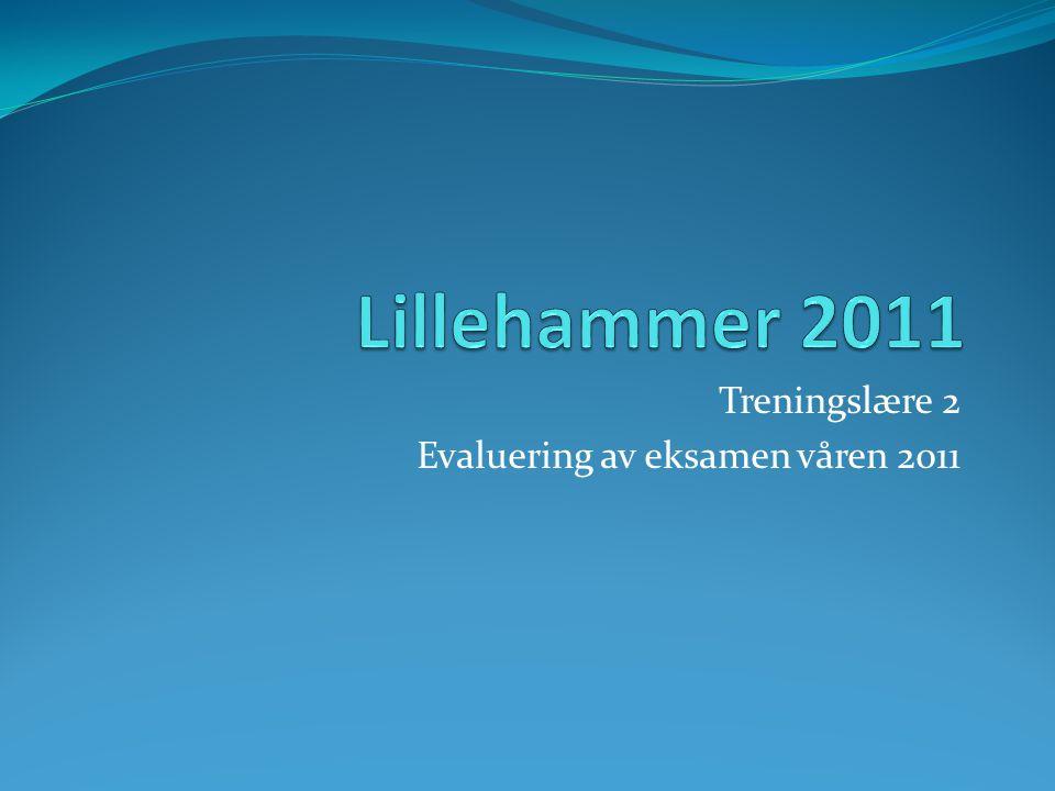 Treningslære 2 Evaluering av eksamen våren 2011