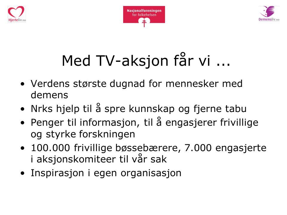 Med TV-aksjon får vi...