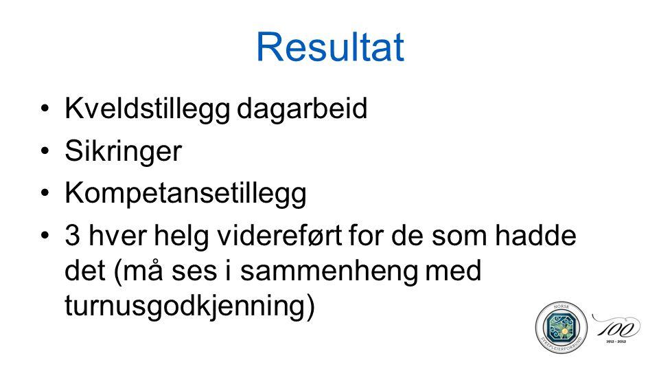 Resultat Arbeidstiden for dagarbeid –Ullevål hadde til 1630 –Riks hadde: i den utstrekning det er mulig… mellom kl.