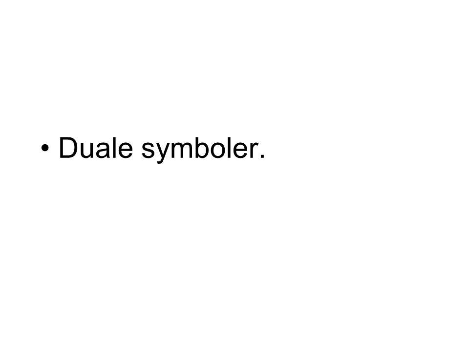 Duale symboler.