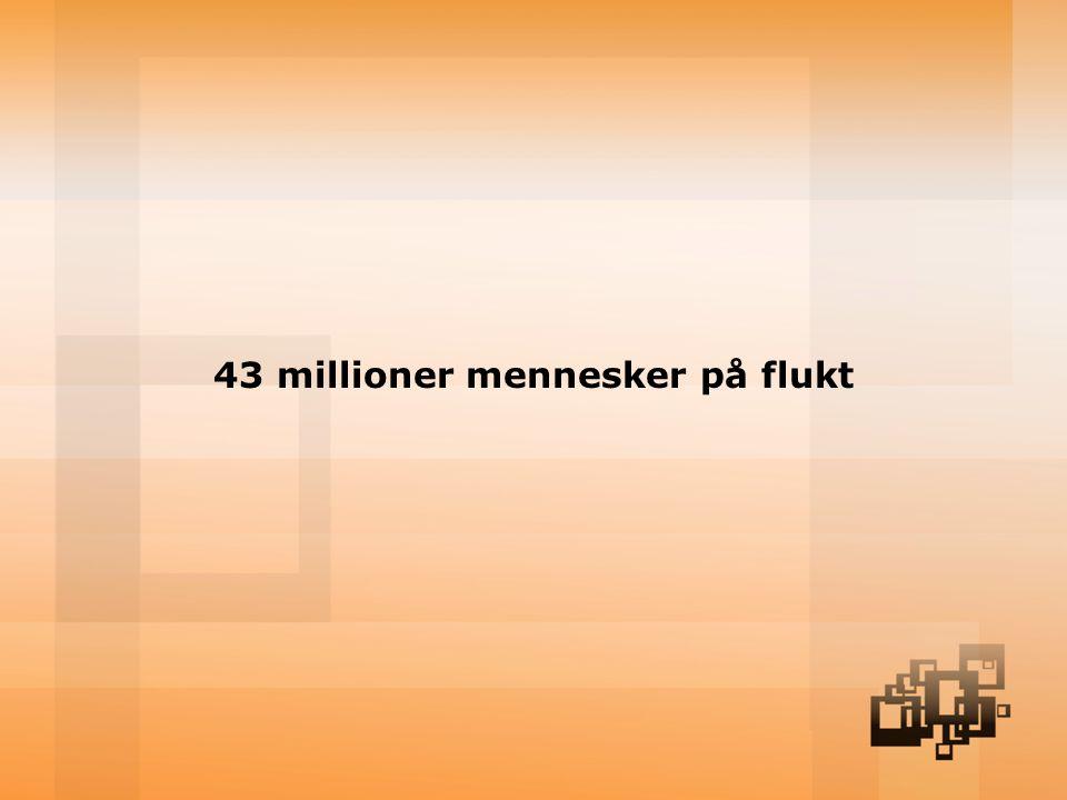 43 millioner mennesker på flukt