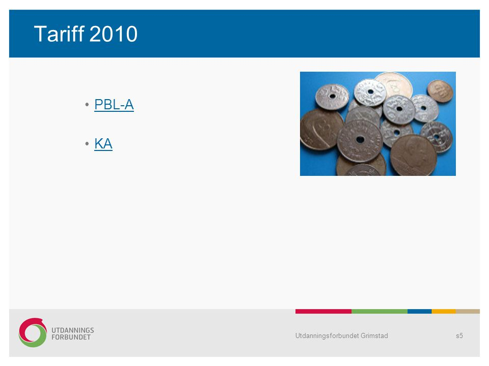 Utdanningsforbundet Grimstads5 Tariff 2010 PBL-A KA