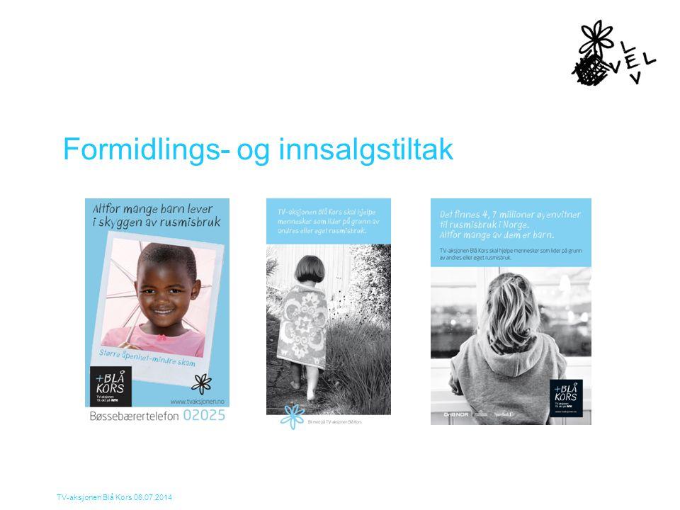TV-aksjonen Blå Kors 06.07.2014 Formidlings- og innsalgstiltak