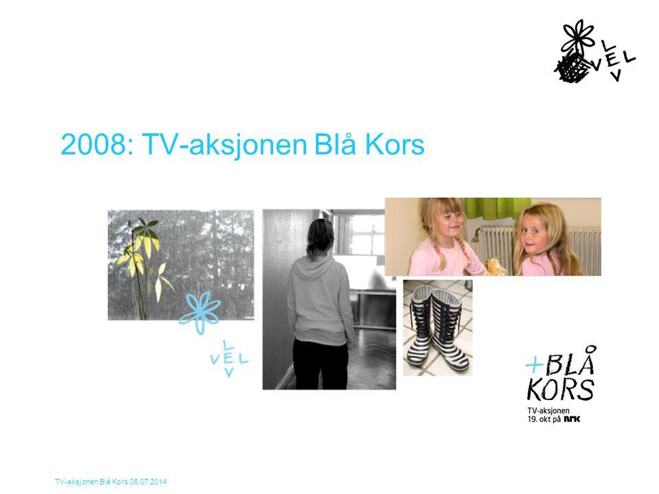 TV-aksjonen Blå Kors 06.07.2014 Mål Hjelpe barn og unge som lider under voksnes rusmisbruk