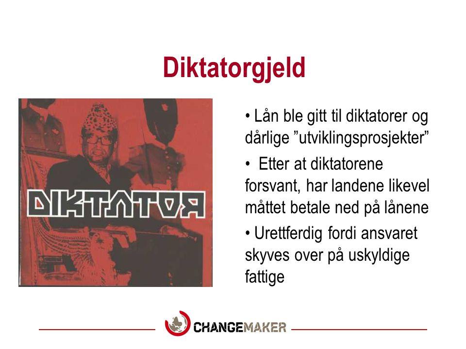 En stor seier for Changemaker Norge lånte ut penger til kjøp av skip som ikke virket Over 25 år etter var gjelda ikke slettet Gjeldsbevegelsen ba Solheim om å slette gjelda - og si unnskyld.