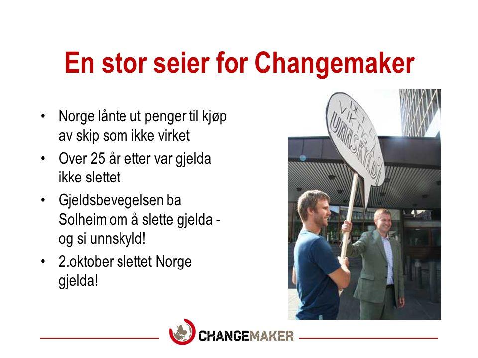 En stor seier for Changemaker Norge lånte ut penger til kjøp av skip som ikke virket Over 25 år etter var gjelda ikke slettet Gjeldsbevegelsen ba Solh