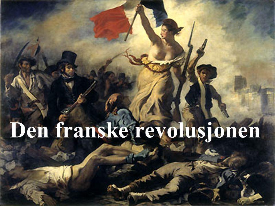 Det franske samfunnet var et stendersamfunn.Stor utrettferdighet.