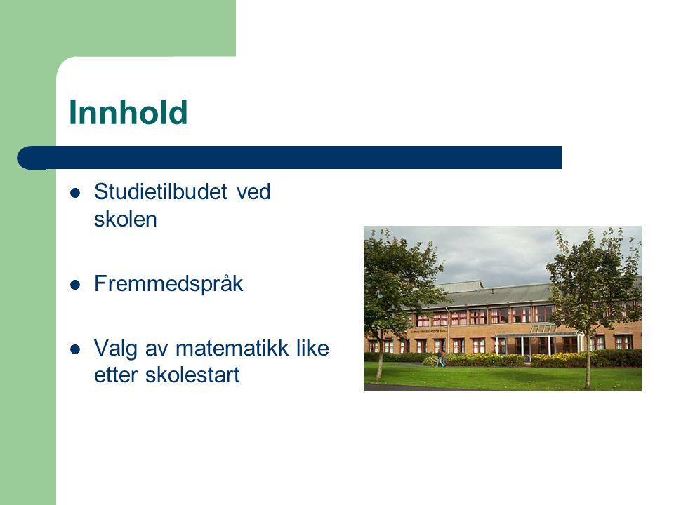 Studietilbudet ved U.Pihl vgs To studieforberedende utdanningsprogrammer 1.