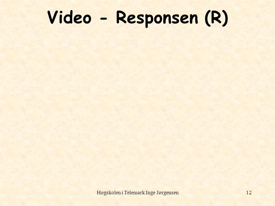 Høgskolen i Telemark Inge Jørgensen12 Video - Responsen (R)