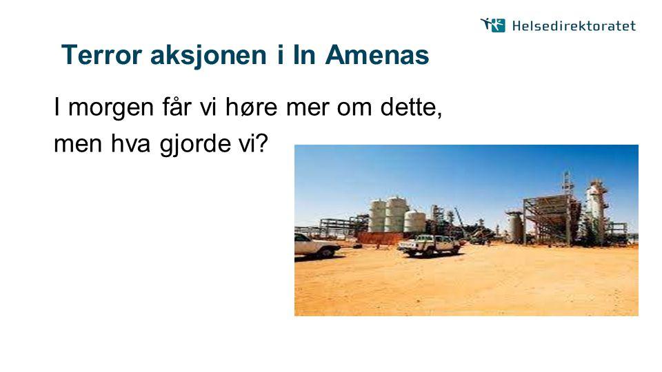 Terror aksjonen i In Amenas I morgen får vi høre mer om dette, men hva gjorde vi?
