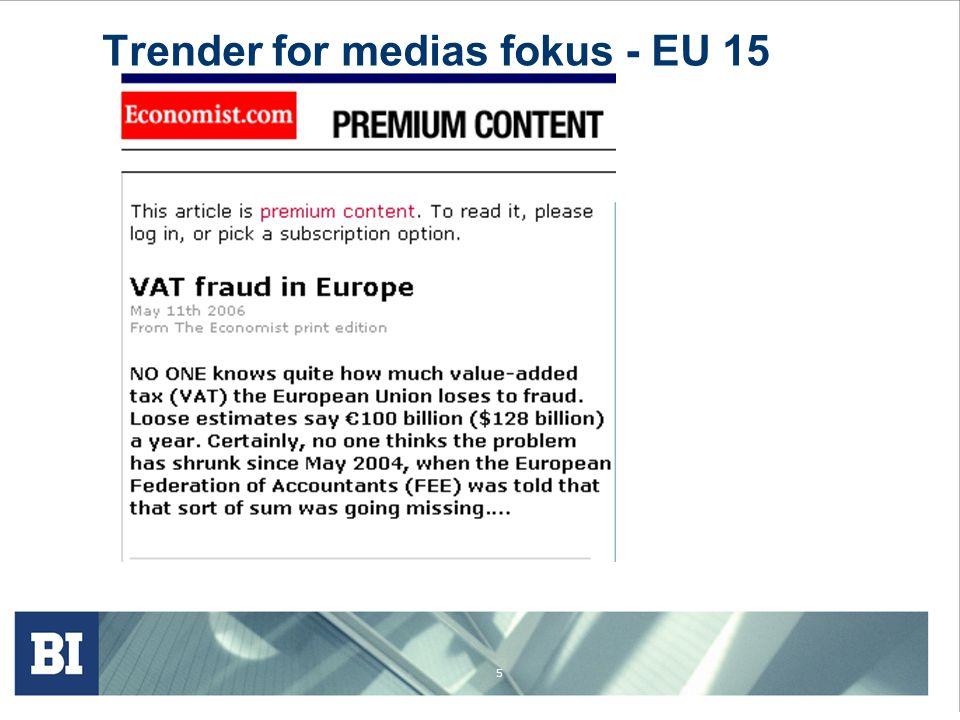 5 Trender for medias fokus - EU 15