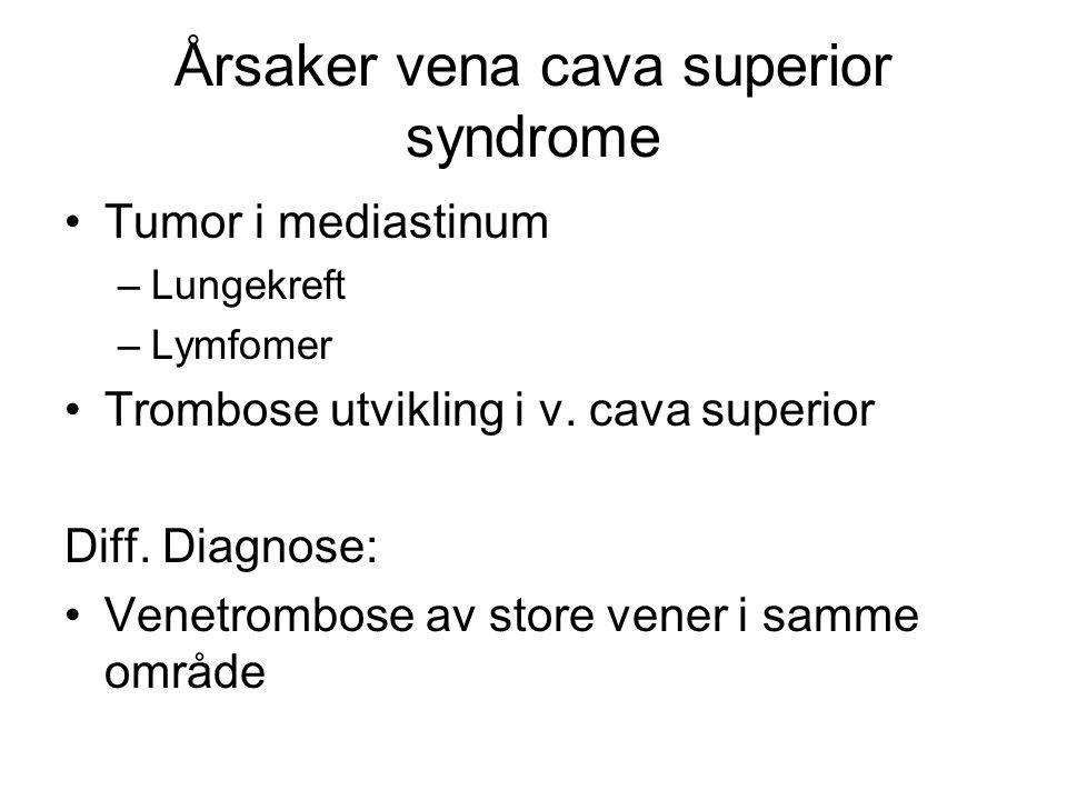Tiltak Høydose corticosteroider ( selv om evidensen ikke er overbevisende) Tumorrettet behandling : strålebehandling/cytostatika Evt.