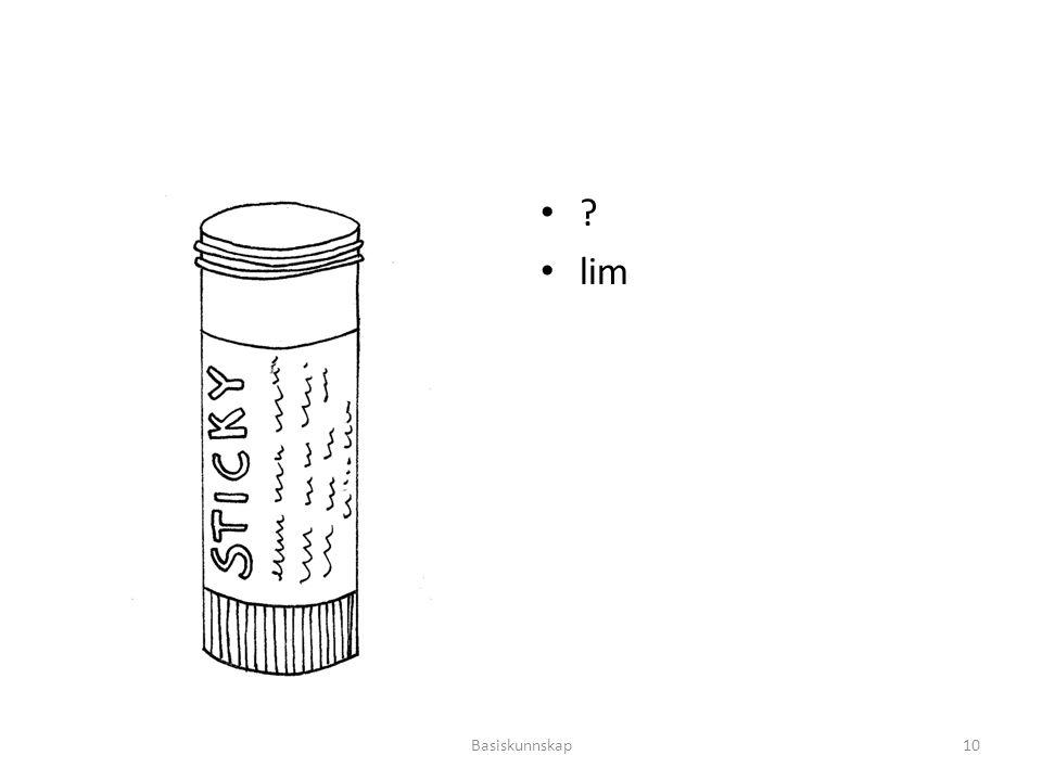 ? lim Basiskunnskap10