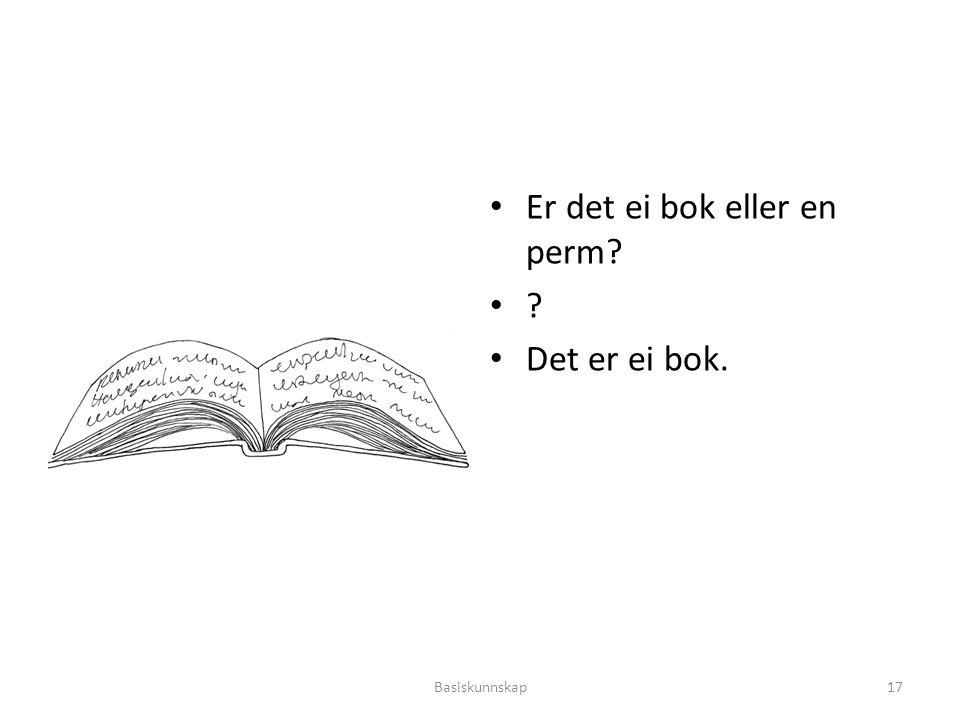 Er det ei bok eller en perm? ? Det er ei bok. Basiskunnskap17