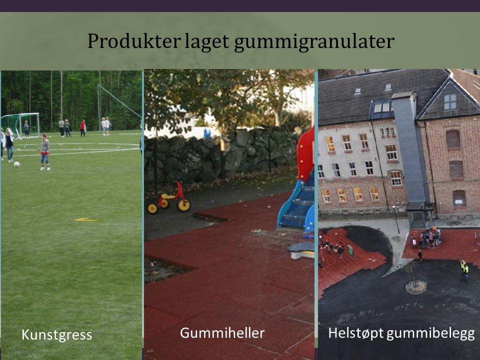 Produkter laget gummigranulater Kunstgress Gummiheller Helstøpt gummibelegg