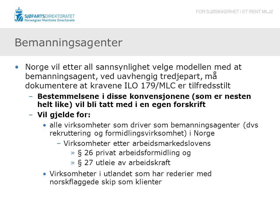 Bemanningsagenter Norge vil etter all sannsynlighet velge modellen med at bemanningsagent, ved uavhengig tredjepart, må dokumentere at kravene ILO 179