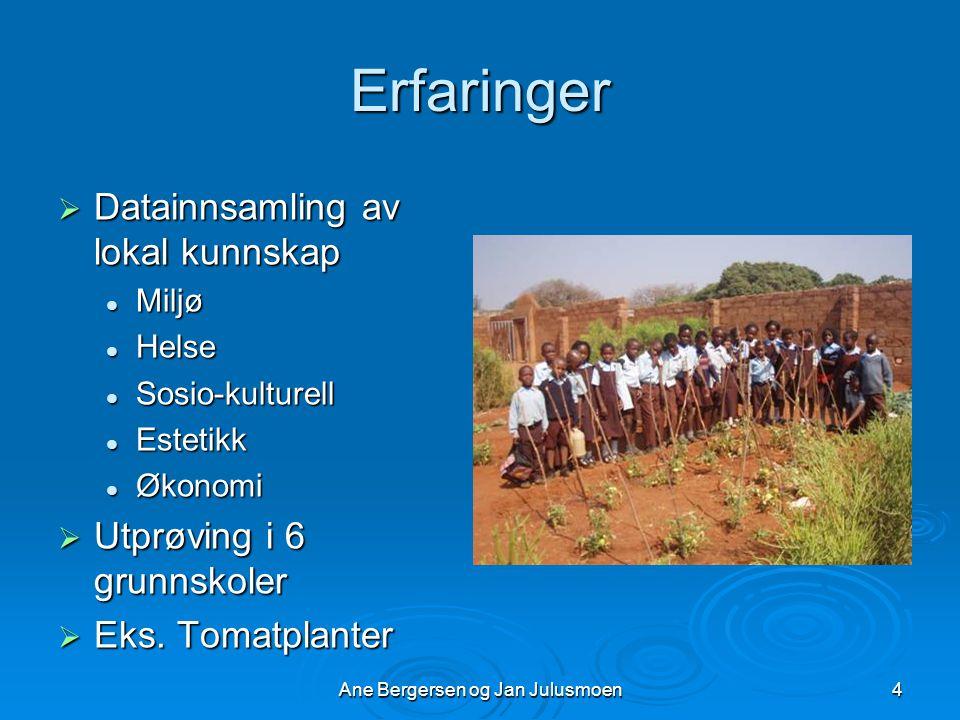Ane Bergersen og Jan Julusmoen5 Zambisk eksempel på entreprenørskap  Mukuni skole Lokalt håndverk Skole – lokalsamfunn Produktutvikling Miljø konsekvenser Entreprenørskap, kjønn og bivirkninger