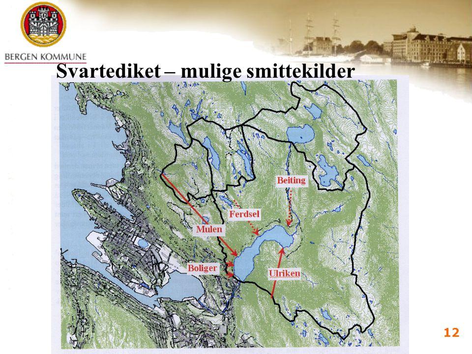 Vannforsyningsdagene 2005 Bergen 7.-9.juni 2005 i d kalland 12 Svartediket – mulige smittekilder