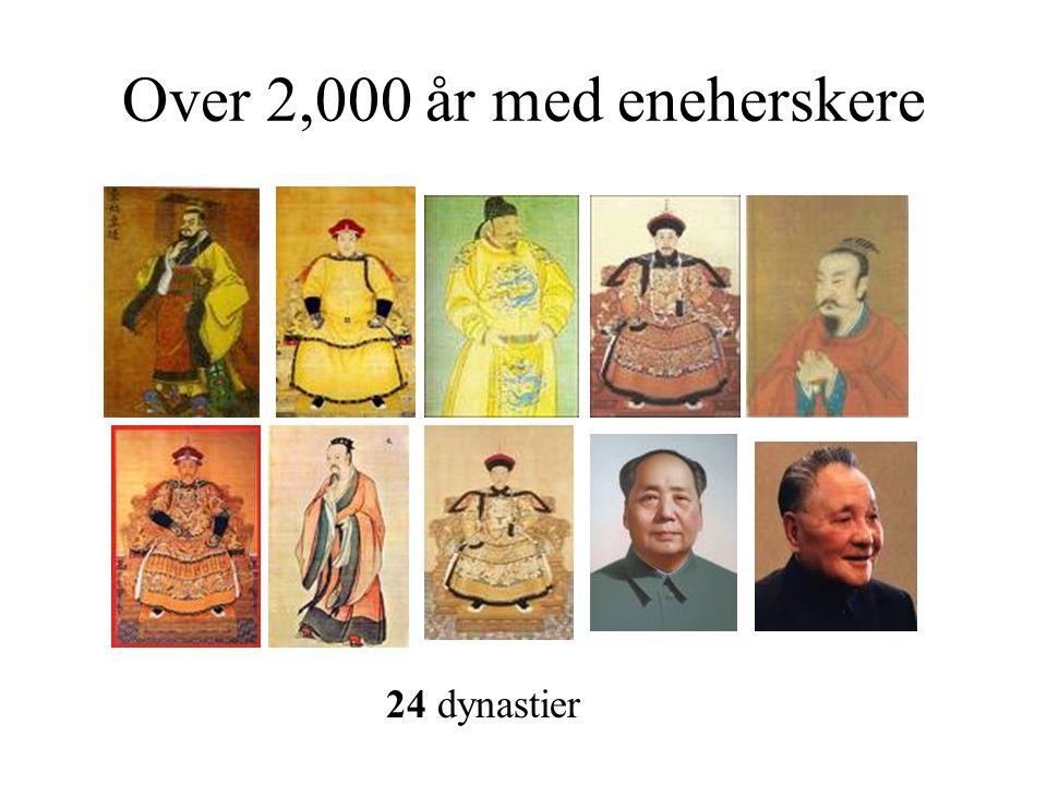 Over 2,000 år med eneherskere 24 dynastier