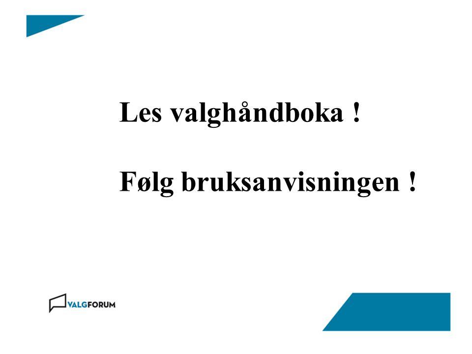 Opptelling hos valgstyret -Valglovens kap.