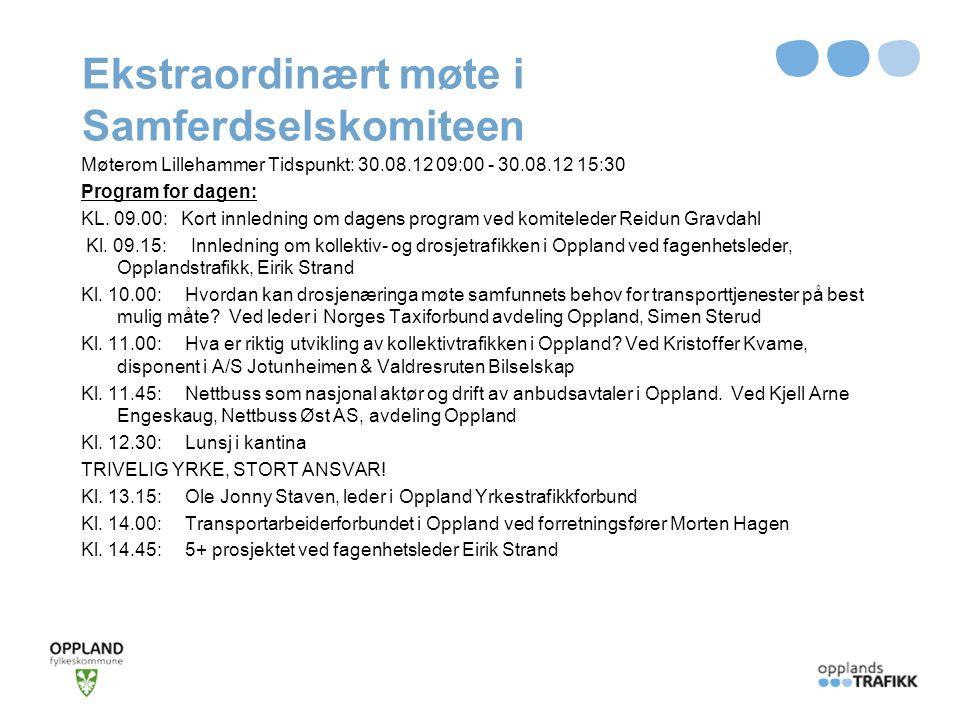 Temaer Hva er kollektiv- og drosjetrafikk i Oppland.