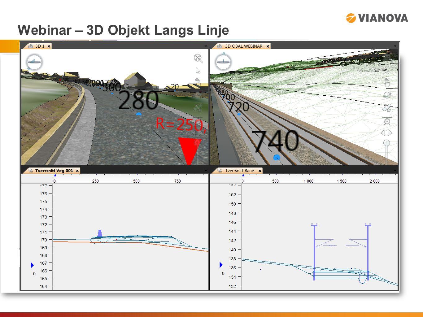 Webinar – 3D Objekt Langs Linje