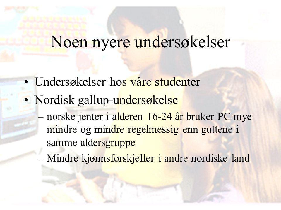 Noe for jenter? Giæver - Øgrim Prosjekt i Vestre Toten kommune. Vil ekstra oppfølging av jentene i 5-årsgruppen i barnehagen, gi utslag i bruk av data