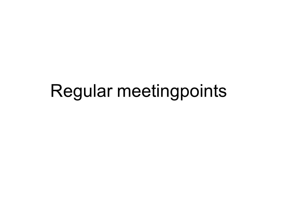 Regular meetingpoints