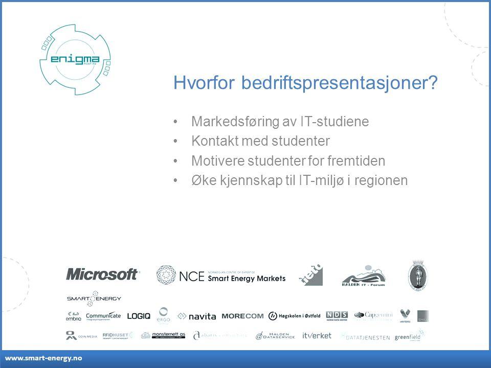 www.smart-energy.no Hvorfor bedriftspresentasjoner.