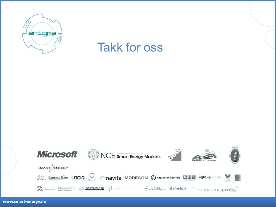 www.smart-energy.no Takk for oss