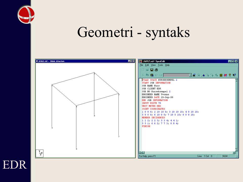 Geometri - syntaks EDR