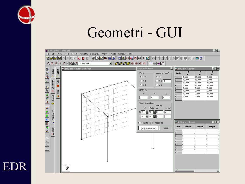 Geometri - GUI EDR