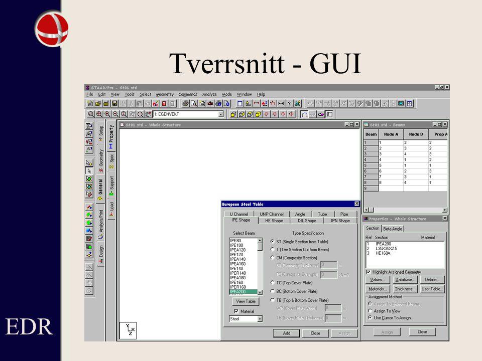 Tverrsnitt - GUI EDR