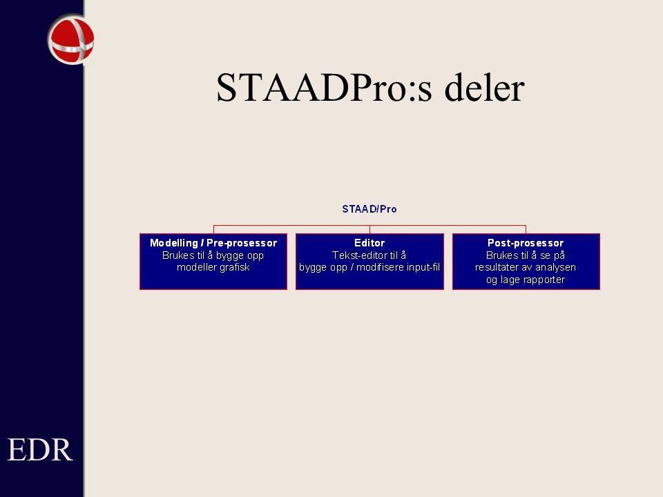 STAADPro:s deler EDR
