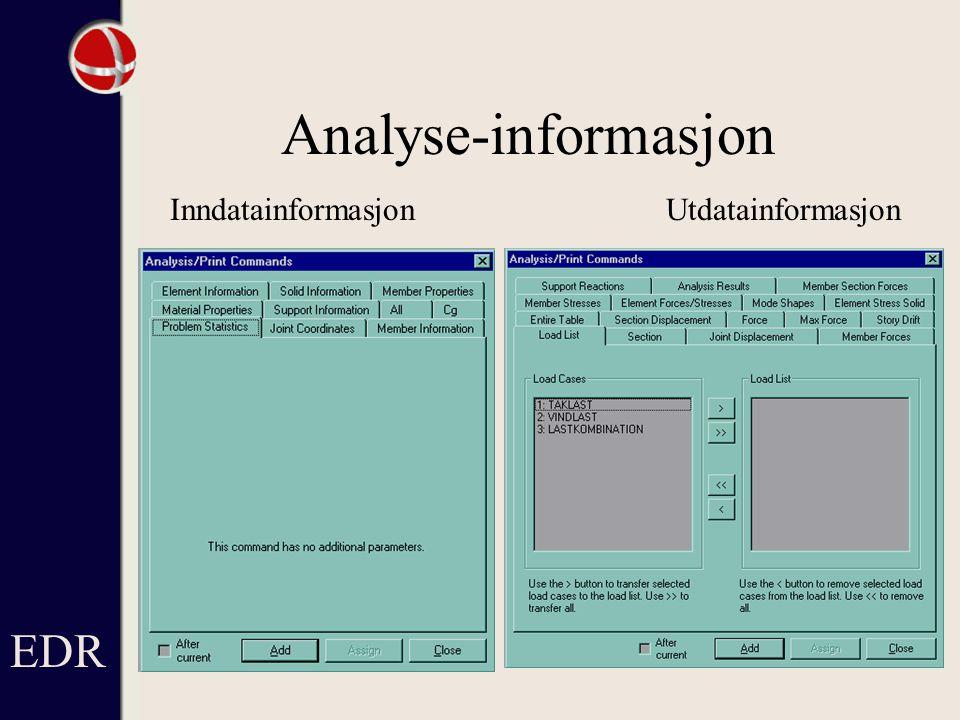 Analyse-informasjon InndatainformasjonUtdatainformasjon EDR