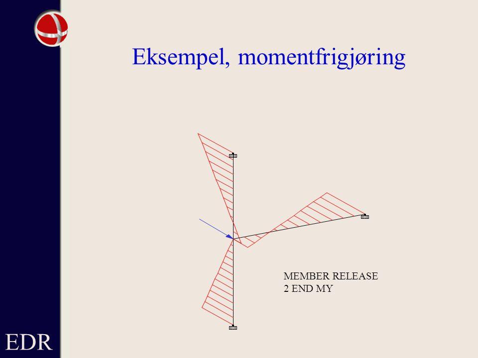 EDR Eksempel, momentfrigjøring MEMBER RELEASE 2 END MY