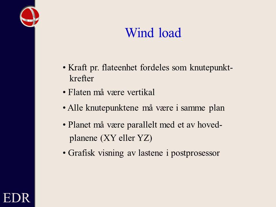 EDR Wind load Kraft pr.
