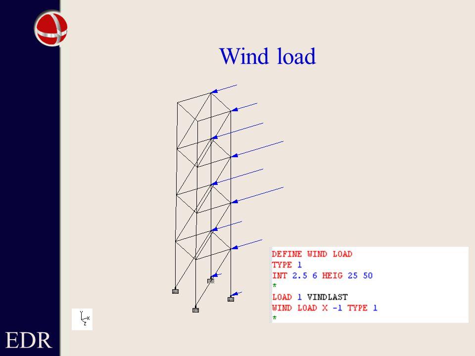 EDR Wind load