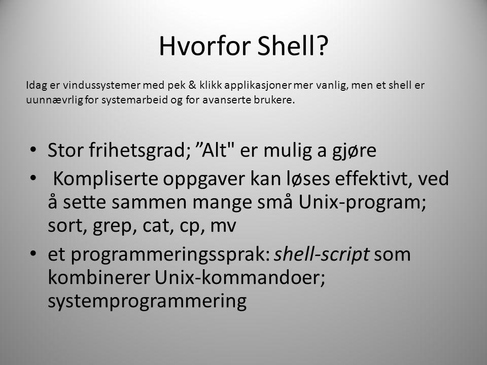 Hvorfor Shell.