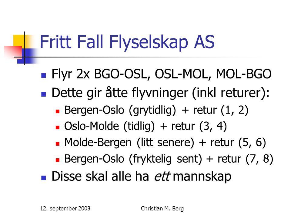 12.september 2003Christian M. Berg Hvem kan fly når.