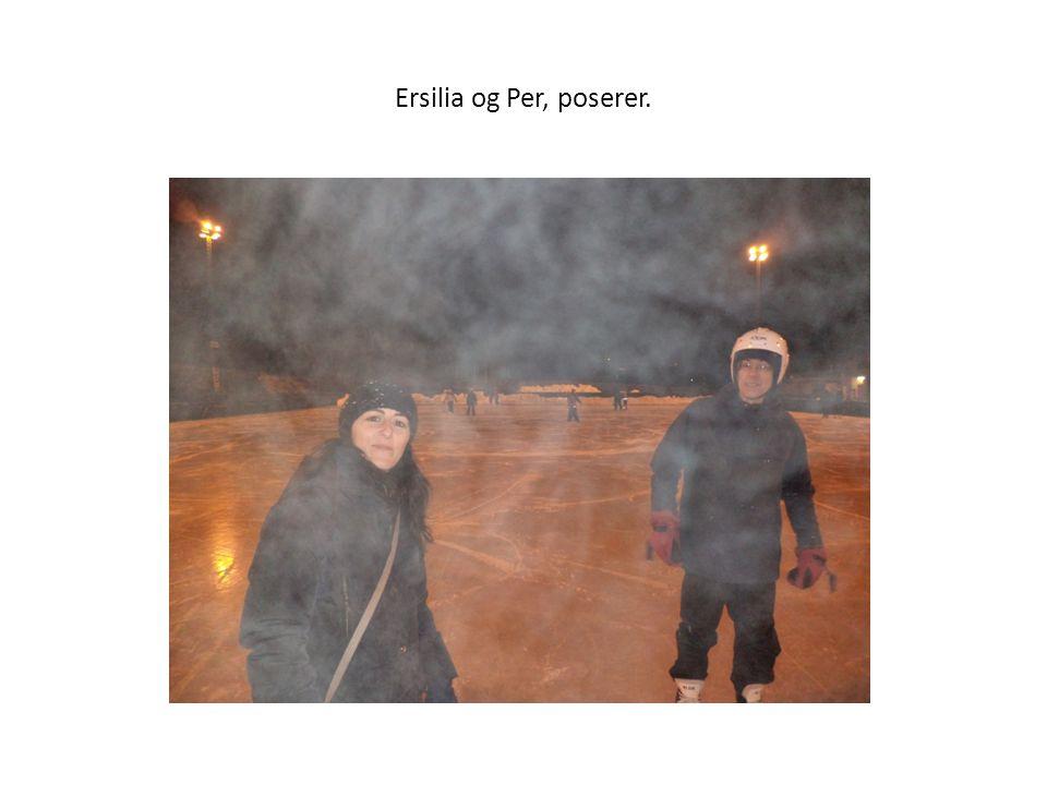 Ersilia og Per, poserer.