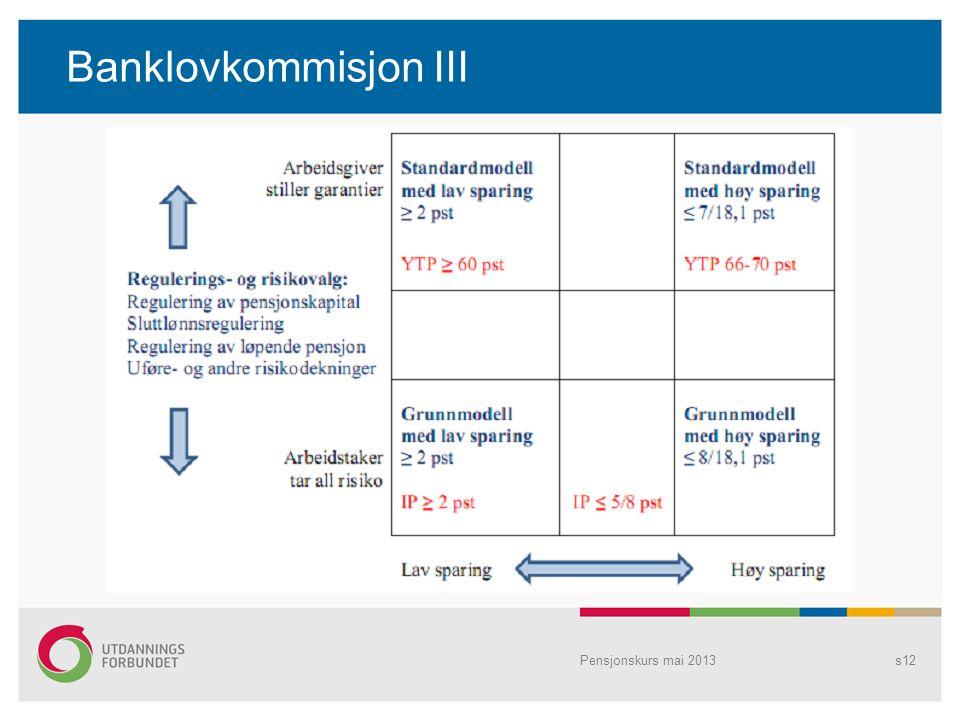 Banklovkommisjon III Pensjonskurs mai 2013s12