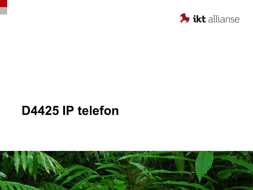 Oversiktsbilde D4425 Høyttaler Hodesett-knapp Justering volum +/- Mikrofon av/på (Mute) Avslutt / C