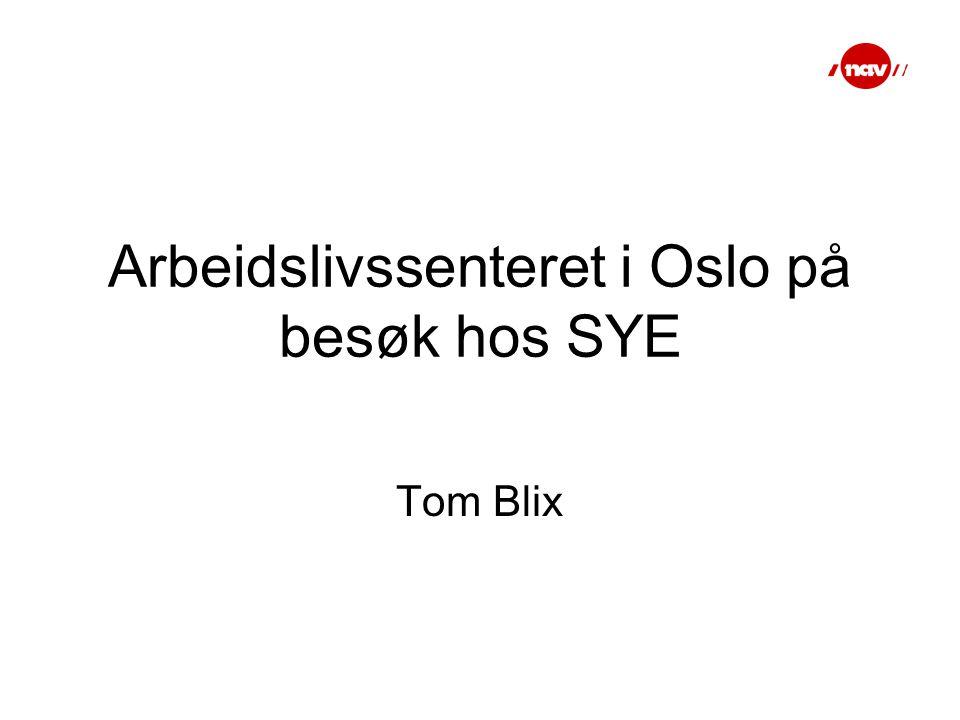 Arbeidslivssenteret i Oslo på besøk hos SYE Tom Blix