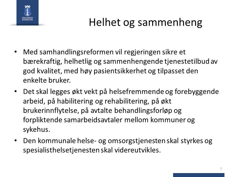 Hovedinnholdet i Helse- og omsorgstjenesteloven Lovens formål er å sikre samhandling både innad i kommunen og mellom kommune og sykehus.