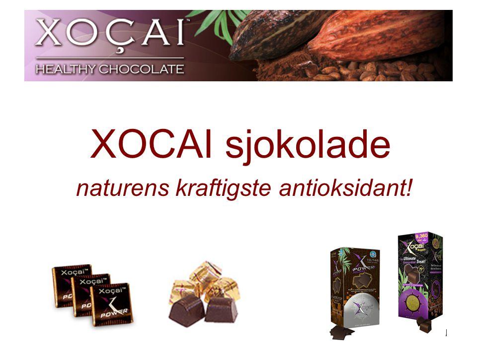1 XOCAI sjokolade naturens kraftigste antioksidant!