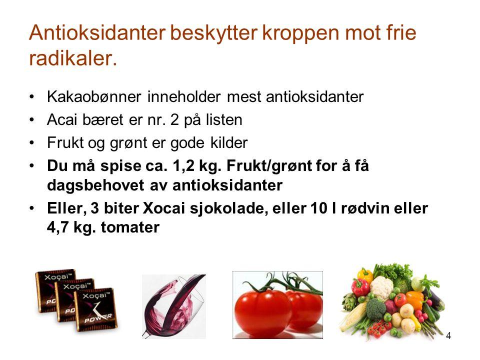 5 Sunn kaldpresset kakao m/ Acai og Blåbær Ingen tilsetningsstoffer.