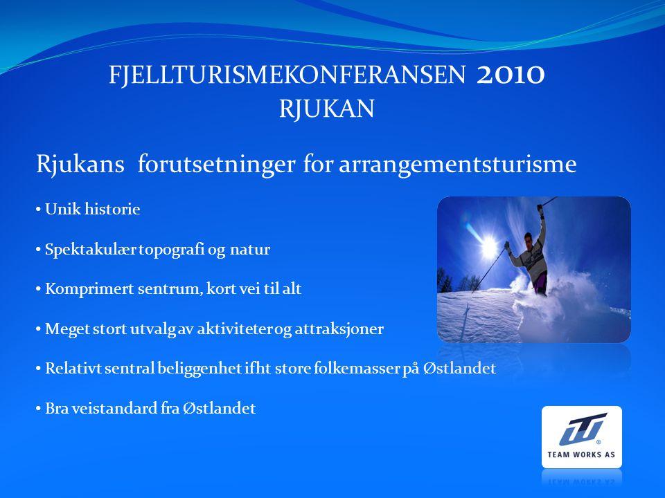 FJELLTURISMEKONFERANSEN 2010 RJUKAN 24.– 26.